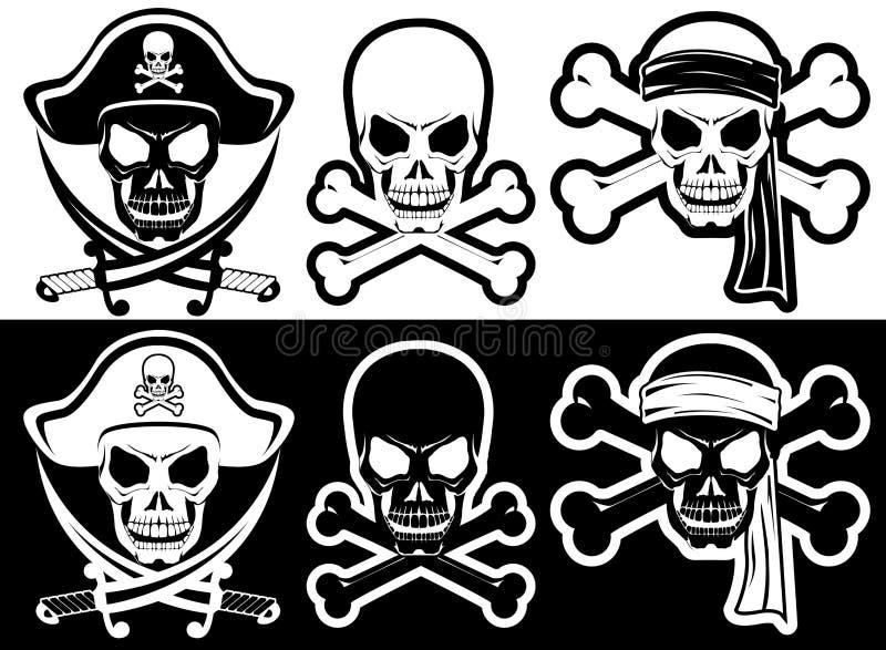 海盗旗 皇族释放例证