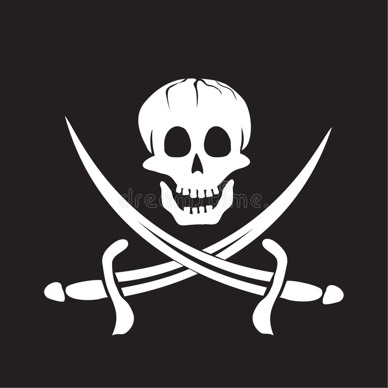 海盗旗 向量例证