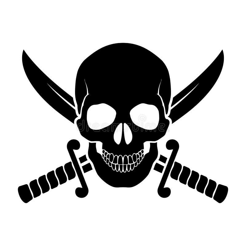 海盗标志 向量例证