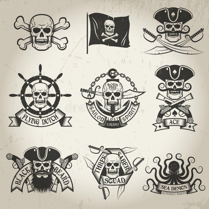 海盗标志 库存例证