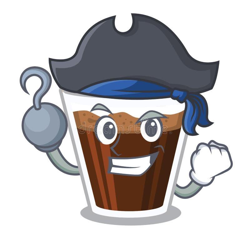 海盗爱尔兰coffe隔绝与动画片 库存例证