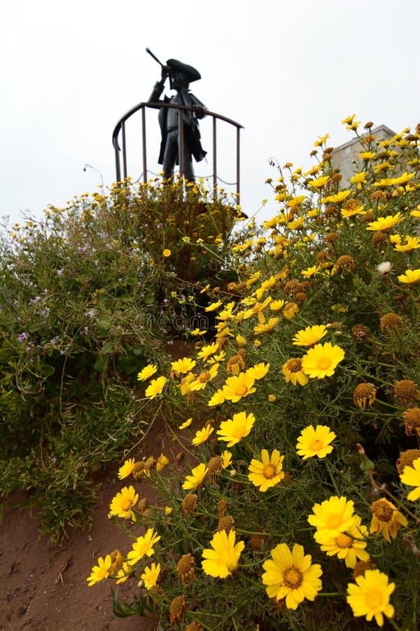 海盗纪念碑 金特罗 瓦尔帕莱索省 智利 图库摄影