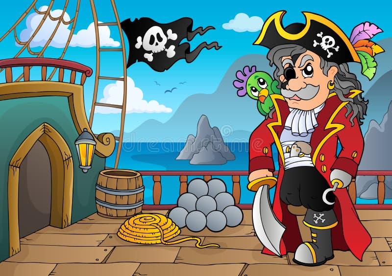 海盗船甲板题目5 皇族释放例证
