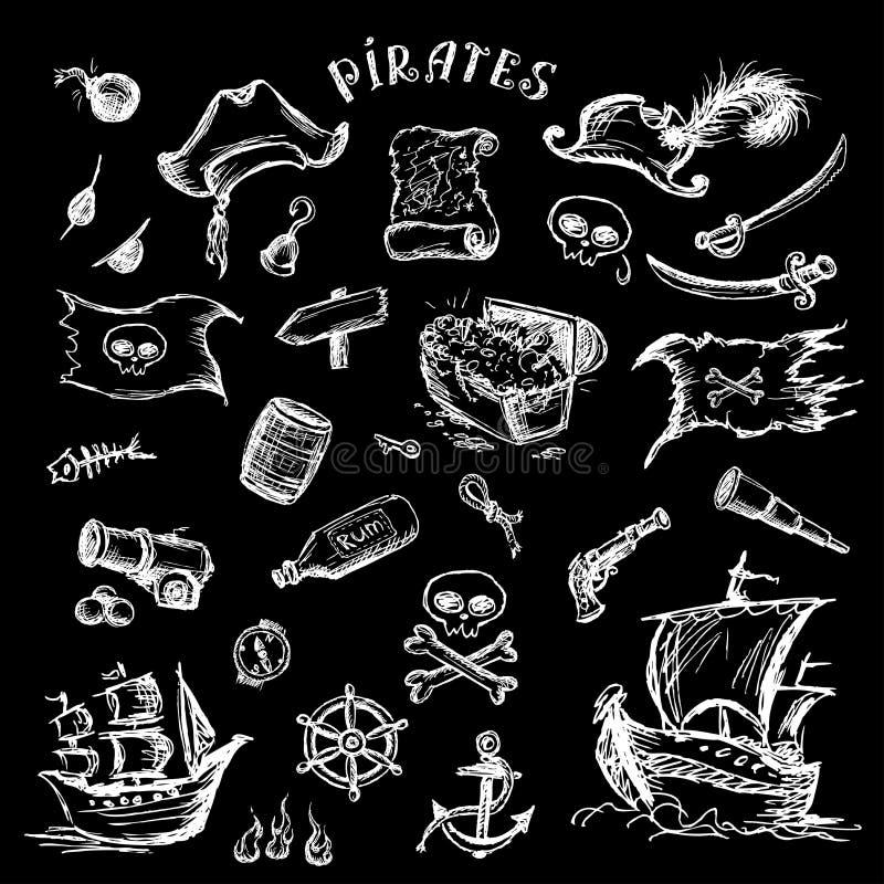 海盗被设置 皇族释放例证