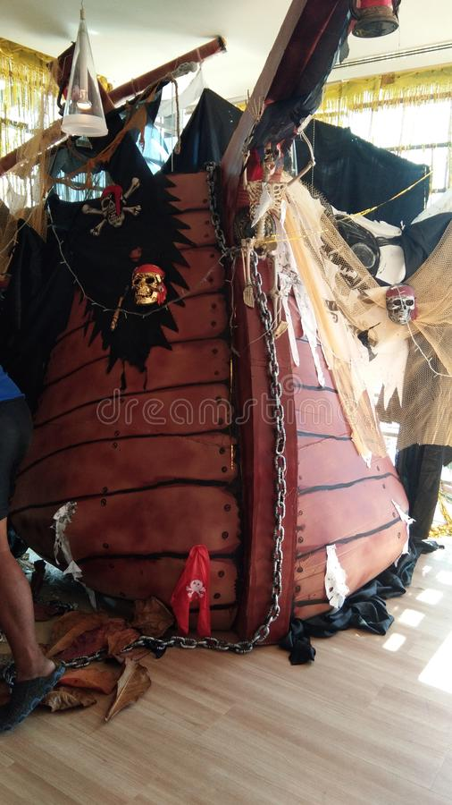海盗装饰 库存照片