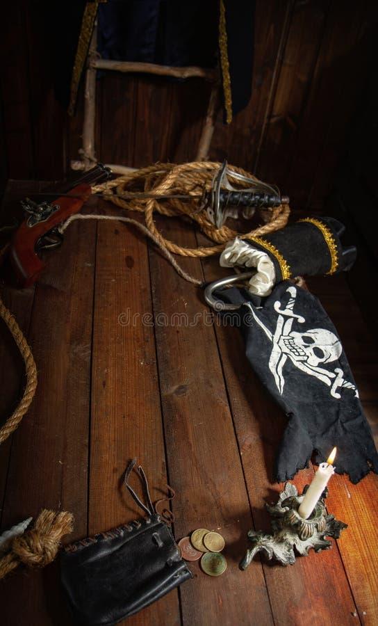海盗静物画 库存照片