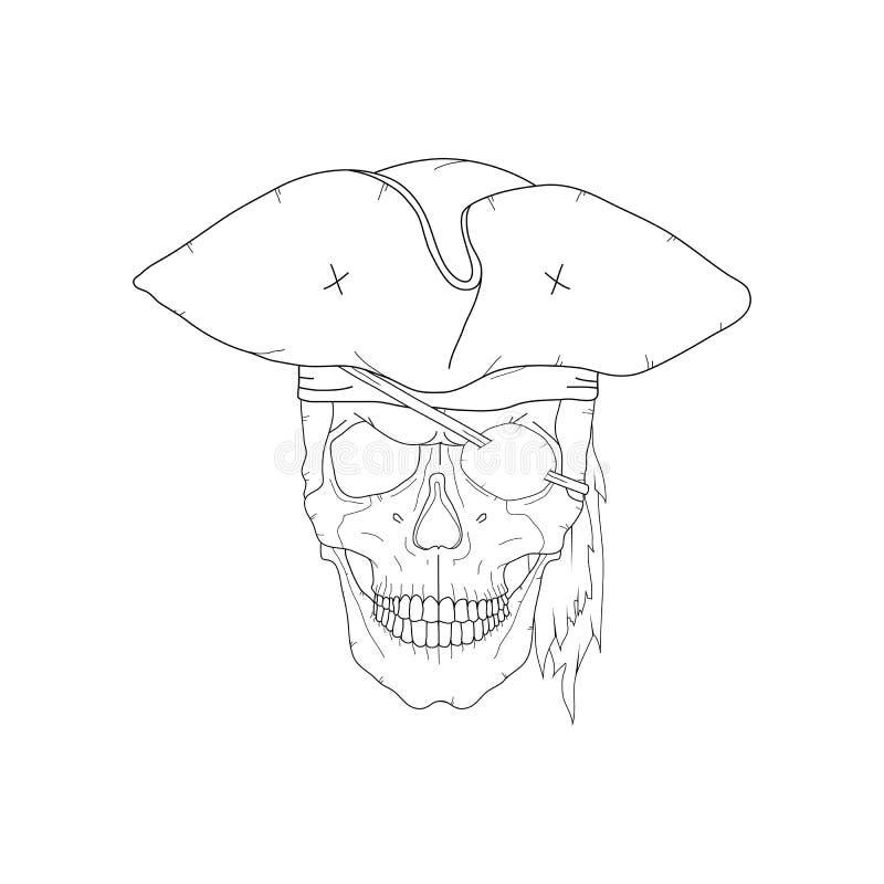 海盗头骨 向量例证