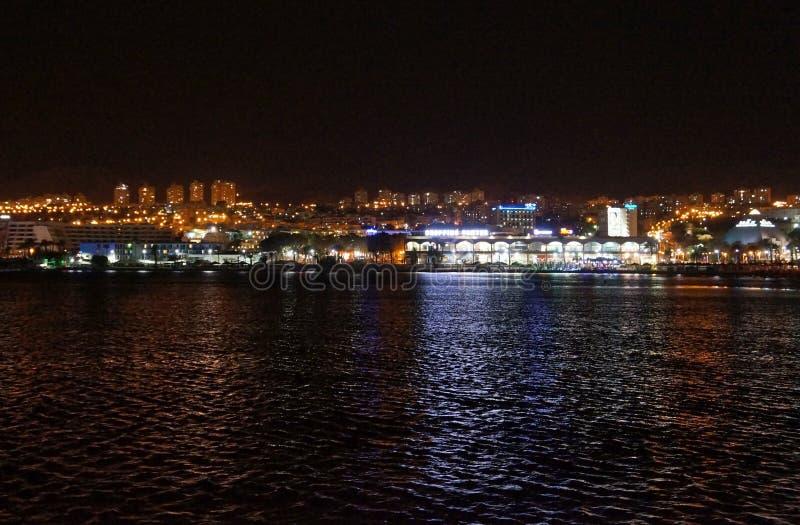 从海看的埃拉特散步 免版税图库摄影