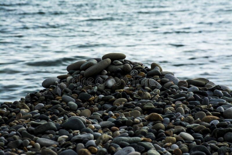 海石头,小卵石 免版税图库摄影