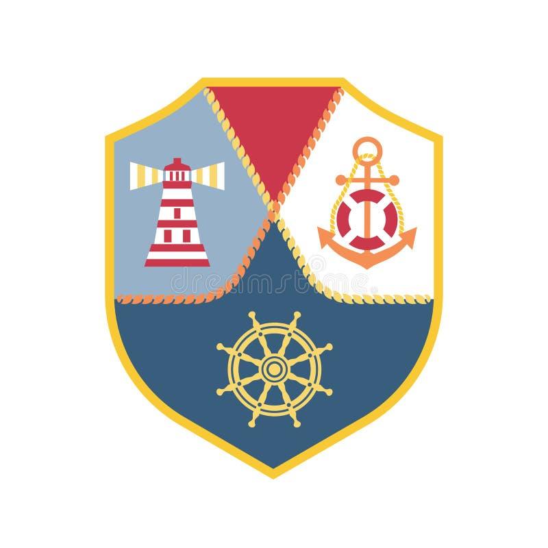 海纹章学象征 皇族释放例证
