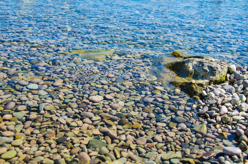 海背景,透明水波纹表面  库存照片