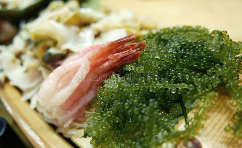 Download 海草沙拉用未加工的虾生鱼片 库存图片. 图片 包括有 海草, 赞许, 木头, 日本, 膳食, 室内, 展望期 - 59110057