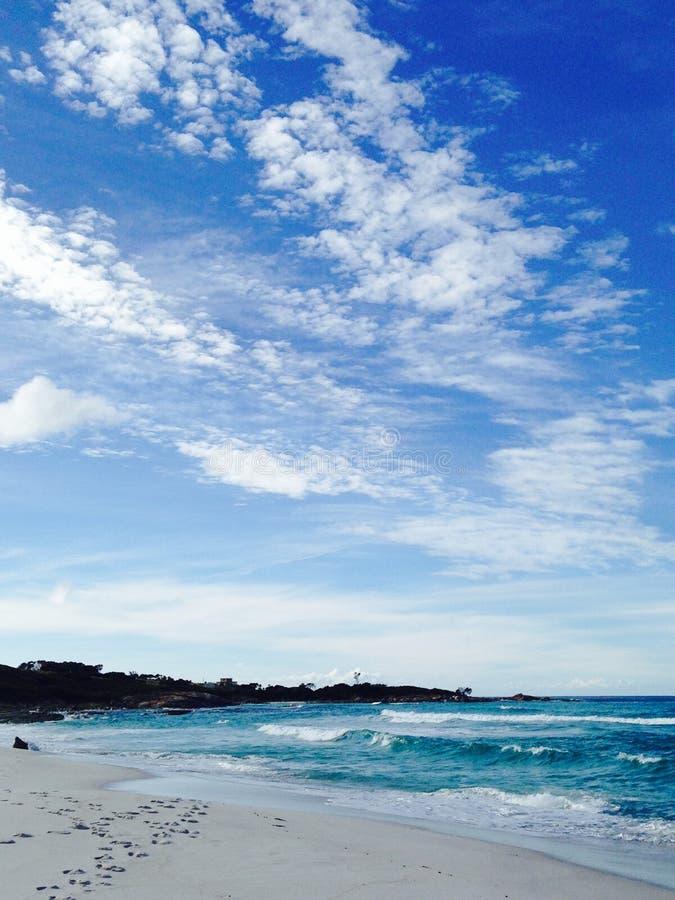 海覆盖天空 图库摄影