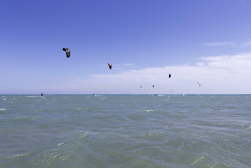 海视图和风筝 库存图片