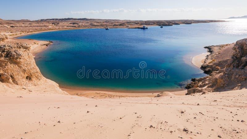 海视图在Ras穆罕默德国家公园 免版税库存图片