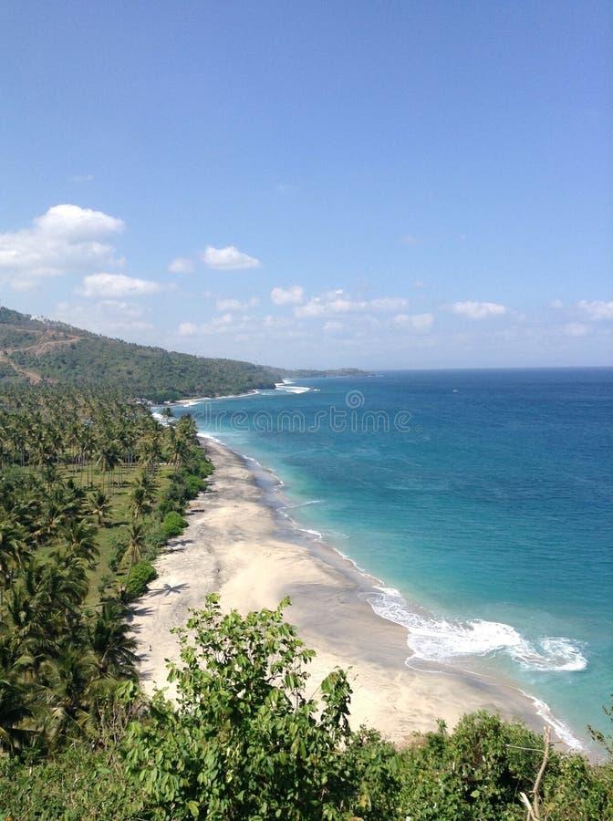 海视图,龙目岛,印度尼西亚,自然,夏天 库存照片
