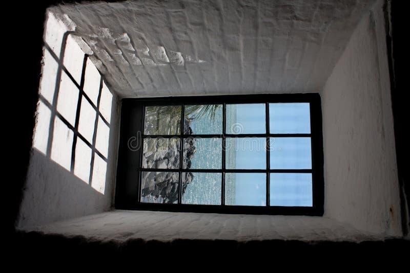 海角佛罗里达hdr灯塔视窗 库存图片