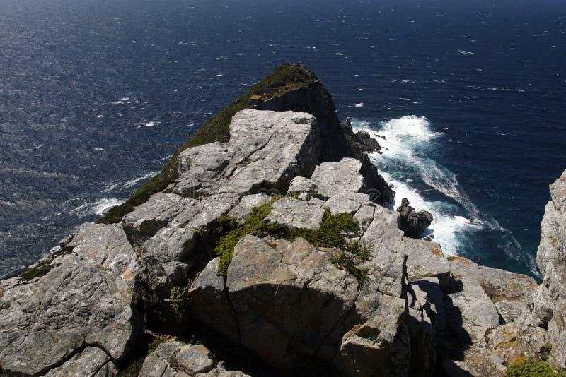 海角俯视的点 图库摄影
