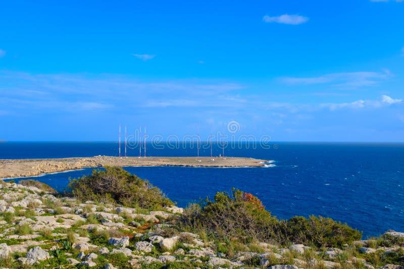 海角在塞浦路斯的格雷科半岛 库存图片