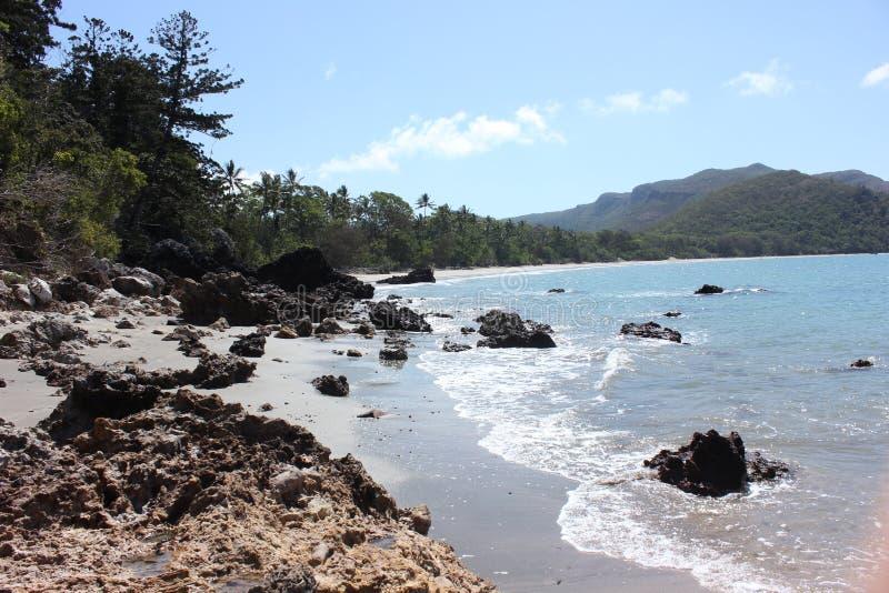海角希尔斯伯勒角海滩 免版税库存照片
