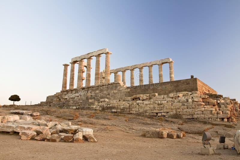 海角希腊sounion 库存图片