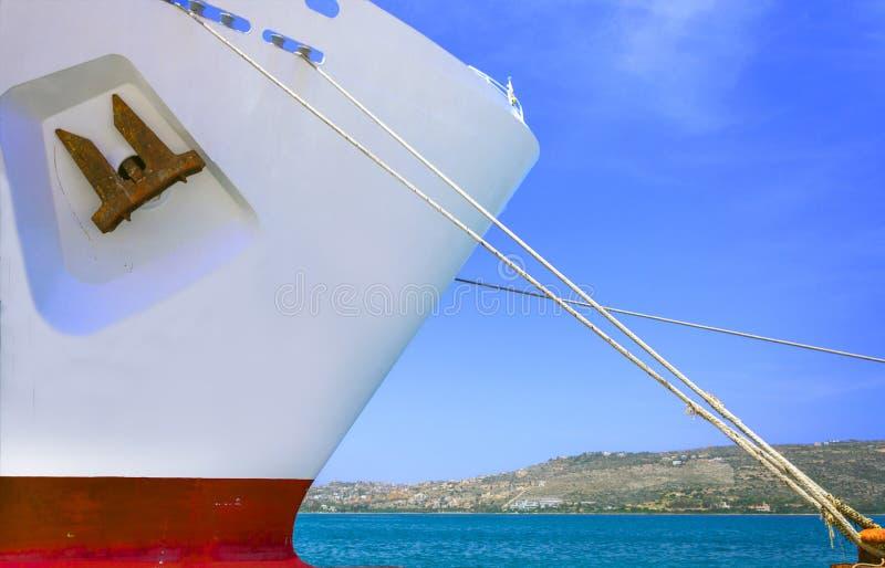 海角游轮在干尼亚州,克利特港停泊了  库存图片