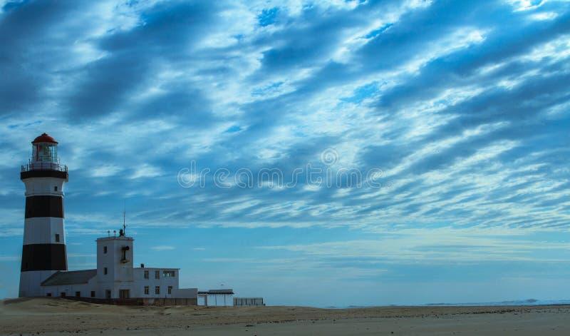 海角累西腓灯塔在伊莉莎白港 免版税图库摄影