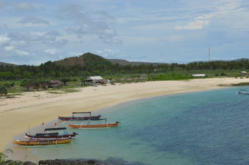 海角Aan,龙目岛,印度尼西亚 免版税库存图片