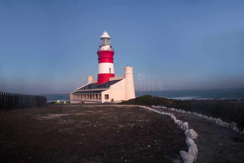 海角Agulhas灯塔,南非 免版税库存图片