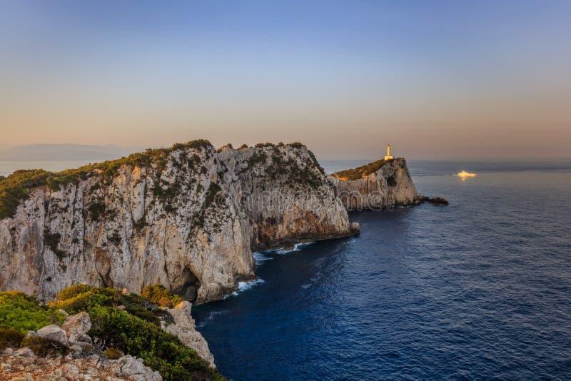 海角Doukato,莱夫卡斯州海岛,希腊 免版税图库摄影