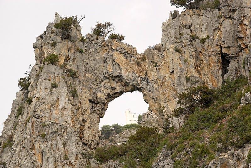 海角Palinuro,意大利 免版税库存图片