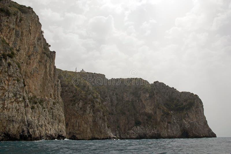 海角Palinuro,意大利 免版税库存照片