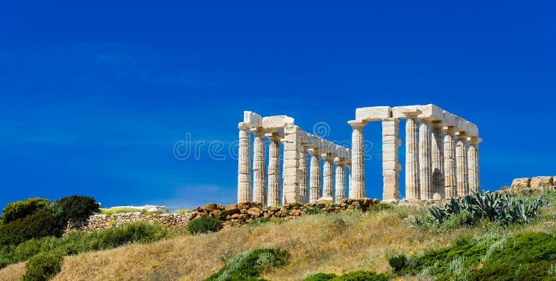 海角Sounion在希腊 免版税库存图片