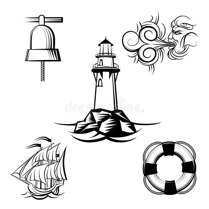 海设计元素 皇族释放例证
