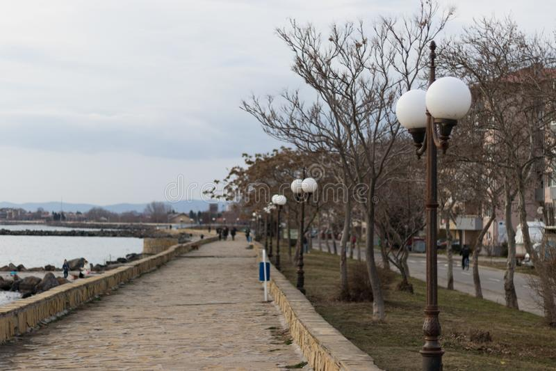 海谷的照片在波摩莱,保加利亚 库存照片