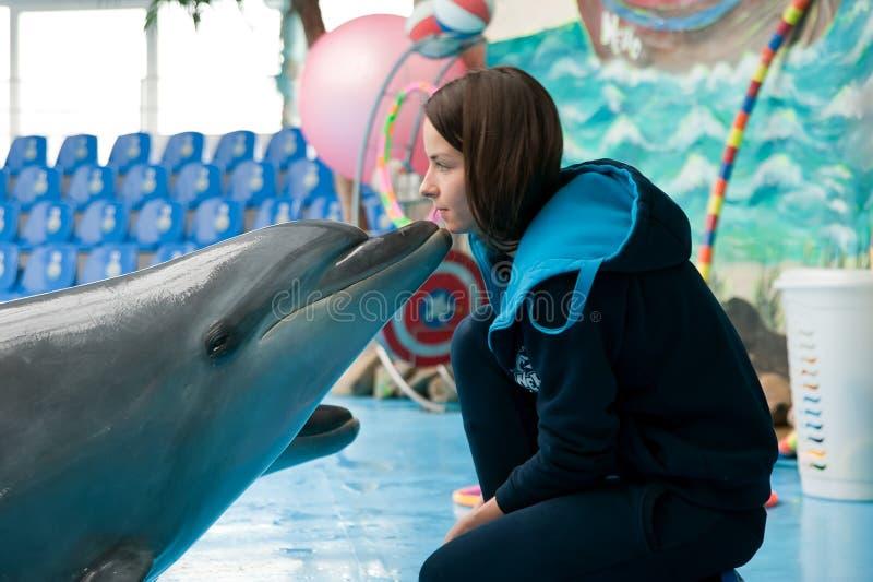 海豚亲吻 免版税库存图片