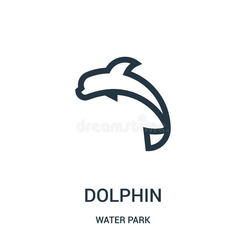 海豚从水公园汇集的象传染媒介 稀薄的线海豚概述象传染媒介例证 r 皇族释放例证