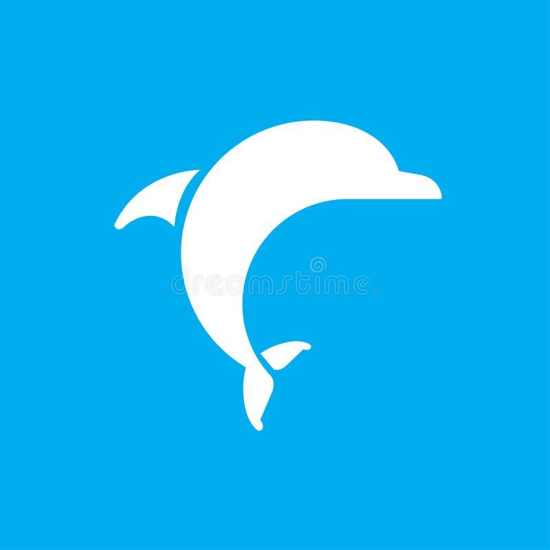 海豚传染媒介商标 海豚传染媒介象 向量例证