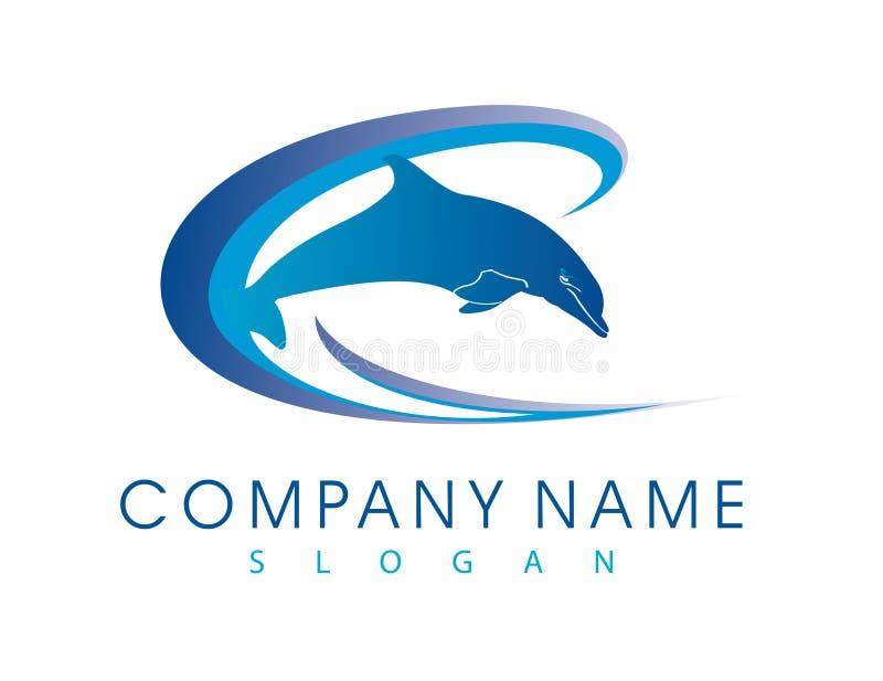 海豚传染媒介商标 向量例证