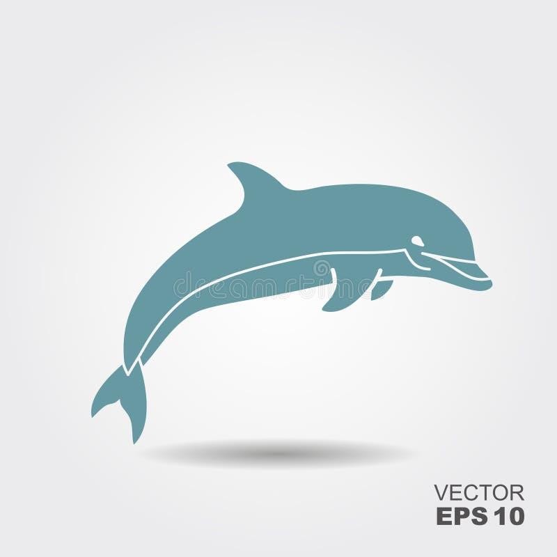 海豚传染媒介象 向量例证