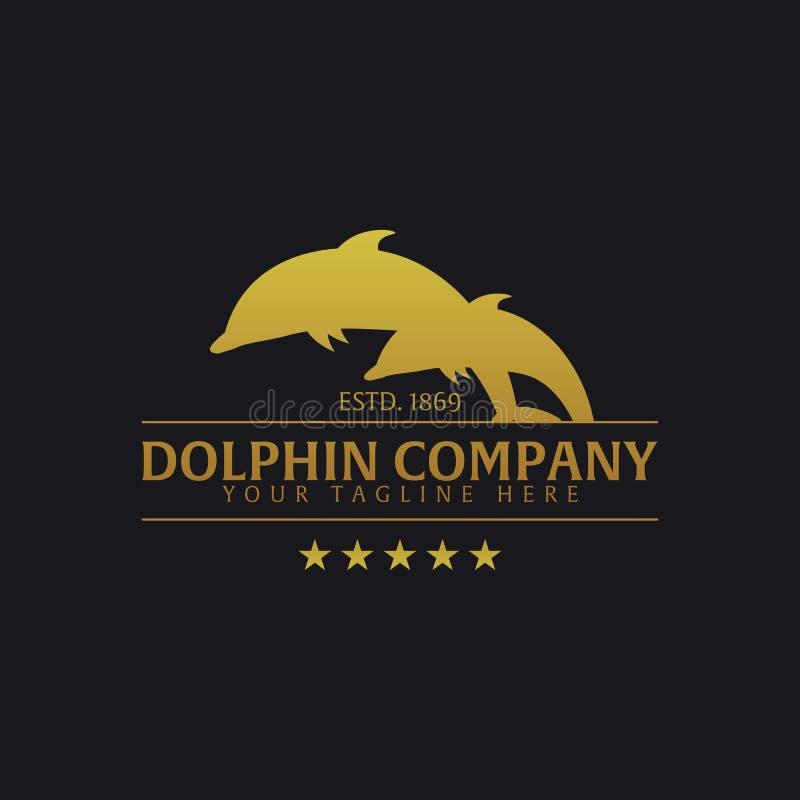 海豚公司 商标或象征 传染媒介商标例证 向量例证