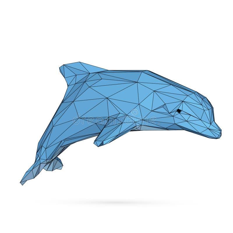 海豚多角形传染媒介图象1 皇族释放例证