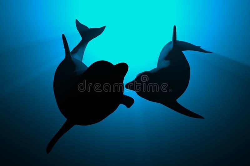 海豚 向量例证