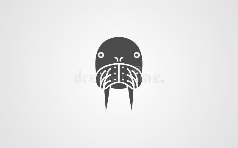 海象传染媒介象标志标志 向量例证