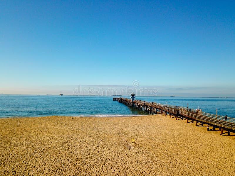 海豹滩加利福尼亚码头 库存图片