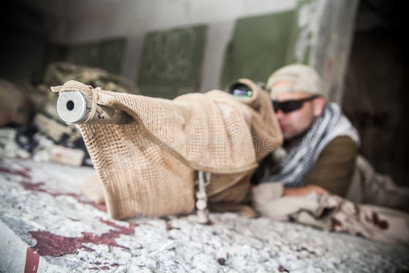 海豹特种部队狙击手 库存图片