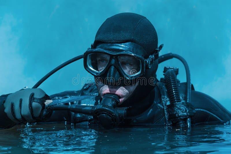 海豹特种部队蛙人 免版税图库摄影