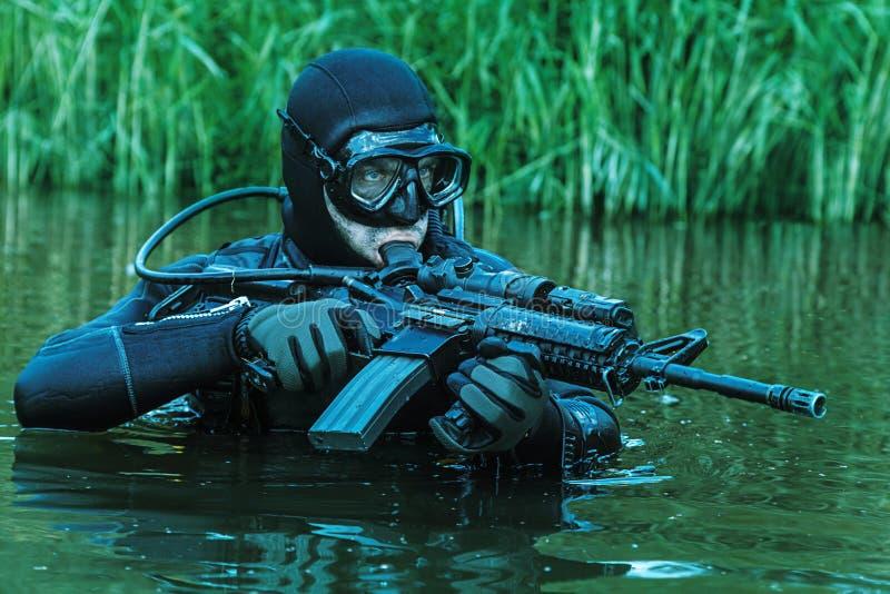海豹特种部队蛙人 库存照片