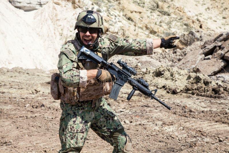 海豹特种部队队 免版税图库摄影