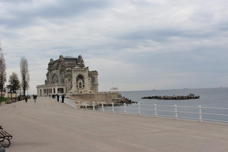 海赌博娱乐场在康斯坦察罗马尼亚 库存图片